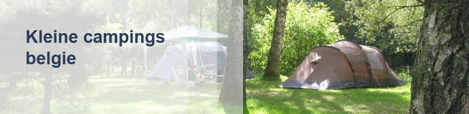 Kleine campings België