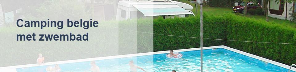 Camping België met zwembad
